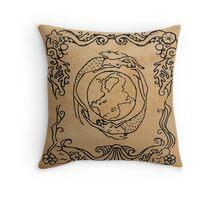 Mermaid Tarot: The World Throw Pillow