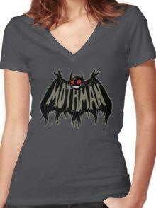 MothMan Women's Fitted V-Neck T-Shirt