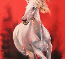 white horse by marcoantonio
