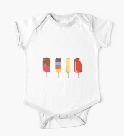 Little Ice Lollies One Piece - Short Sleeve