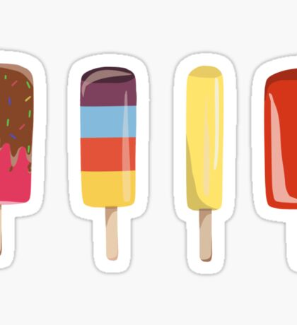 Little Ice Lollies Sticker