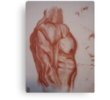 Study of Side View of Muscular Torso Canvas Print
