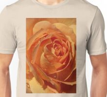 Star Inside a Rose with Raindrops Unisex T-Shirt