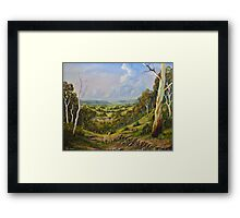 The Lost Sheep In The Scrub Framed Print
