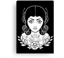Flapper in black Canvas Print