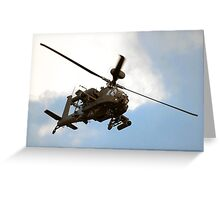 Apache WAH64D Greeting Card