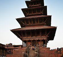 Nyatapola Temple in Bhaktapur, Nepal by David Lewins
