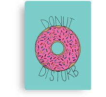 Donut Disturb Canvas Print