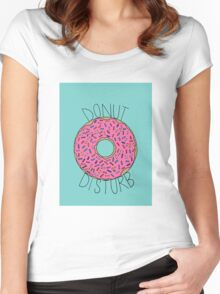 Donut Disturb Women's Fitted Scoop T-Shirt