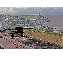 Cannon at San Cristobal Fort Photographic Print