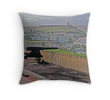 Cannon at San Cristobal Fort Throw Pillow