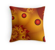 Red Spheres in Yellow Pockets Throw Pillow