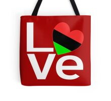 White-Red African American LOVE Tote Bag