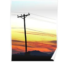 Sunsets and Powerlines Poster