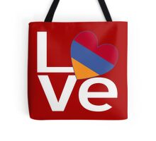White Red Armenian LOVE Tote Bag