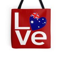 White Red Australian LOVE Tote Bag