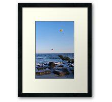 Windy Day in Ocean City Framed Print