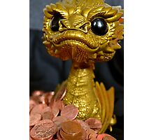 Golden Smaug Funko Pop  Photographic Print
