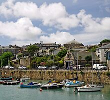 Penzance Harbour Scene by Rod Johnson