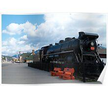 Black locomotive Poster