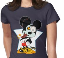 Icky Mouse Womens Fitted T-Shirt