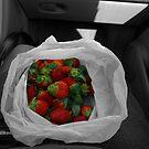 Fresh Picked Strawberries by rjhphoto