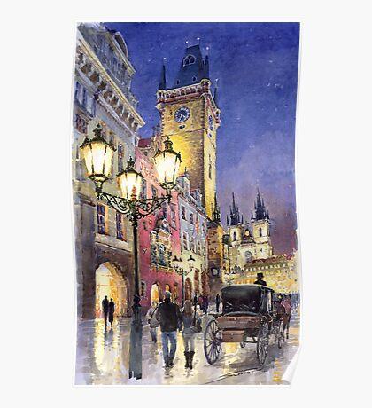 Prague Old Town Square 3 Poster