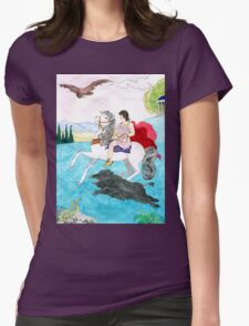 Antinous' boar hunt Womens Fitted T-Shirt