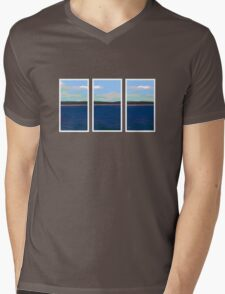 Ocean View - Triptych Mens V-Neck T-Shirt