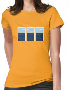 Ocean View - Triptych Womens Fitted T-Shirt