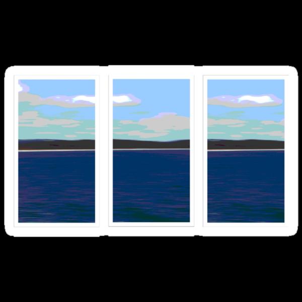 Ocean View - Triptych by Kitsmumma