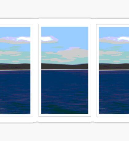 Ocean View - Triptych Sticker