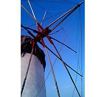 Mykanos Windmill at Dawn Photographic Print