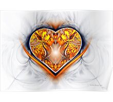 Gold and Sapphire Heart Poster