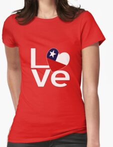 White Red Chile LOVE Womens Fitted T-Shirt