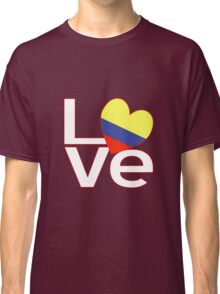 White Red Colombia LOVE Classic T-Shirt