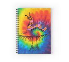 Happy Hippy Caterpillar Spiral Notebook