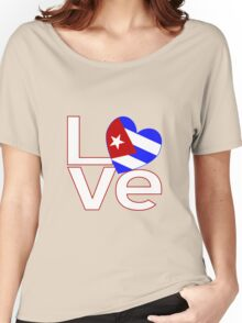 White Red Cuba LOVE Women's Relaxed Fit T-Shirt