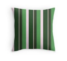 Pink Roses in Anzures 1 Stripes 5V Throw Pillow