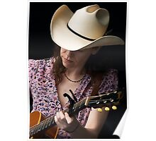 Gillian Welch In Purple Poster
