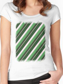 Pink Roses in Anzures 1 Stripes 5D Women's Fitted Scoop T-Shirt