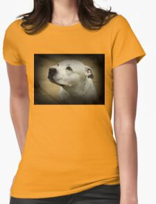 Bonnie the Staffordshire Bull Terrior Womens Fitted T-Shirt