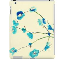 Blue blossoms iPad Case/Skin