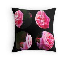 Pink Roses in Anzures 1 Art Circles 3 Throw Pillow