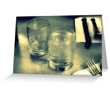 Water Glasses Greeting Card