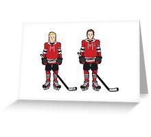 Hawks - Kane and Toews Greeting Card