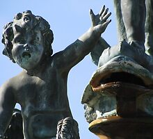 Patina Cherub's Greeting by shutterbug2010