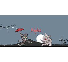 Disney Fight! Photographic Print