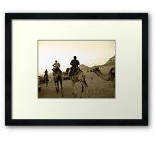 Rush Hour in the Desert - Wadi Rum, Jordan Framed Print