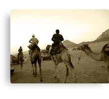Rush Hour in the Desert - Wadi Rum, Jordan Canvas Print